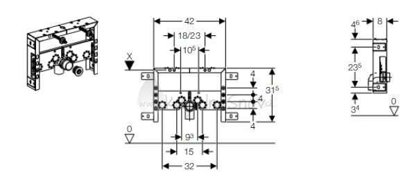 geberit kombifix mont ny prvok basic pre bidet h bka 8 cm k pe a snov. Black Bedroom Furniture Sets. Home Design Ideas