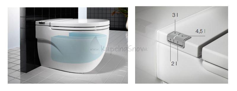 Roca meridian 7893303000 in tank stojace wc biela for Roca meridian in tank