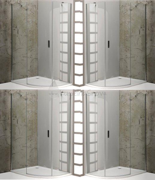 7f7e5583828c0 Sapho VITRA LINE sprchová zástena, štvrťkruh,R550,ovál. panty, číre sklo,  rôzne prevedenia